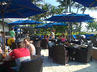 Breakfast by the ocean at Jupiter Beach Resort.