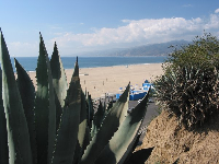 Lovely Santa Monica and its wide, wide beach.