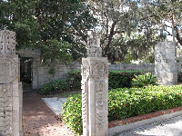 The entrance to the outdoor chapel.