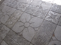 Carved floor.
