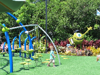 Playground and Monster University topiary, during the flower festival.