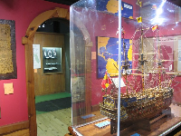 Spanish galleon model.