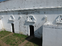 The Spanish fort with its Spanish ornamentation.