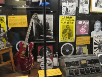 Memorabilia upstairs in Sun Studio.