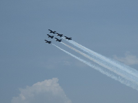 Six planes flying in formation.
