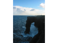 The Holei Sea Arch, near the ranger station in Hawaii Volcanoes National Park.