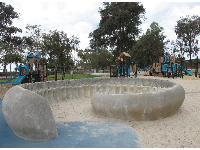 Kids can play with water and mud in this lifesize shell.