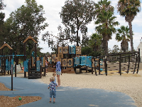 The large ship play structure.