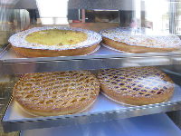 Traditional fruit pies in Bufkes sandwich shop, inside Corio Center.