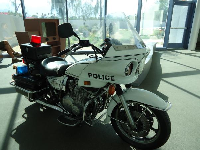 Police motorcycle to ride.