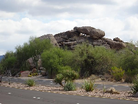 Boulders piled on top of each other.