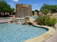 Fountain and pool.