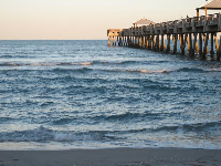 The pier at sunset.
