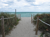 Miami's beaches entice you to enter.