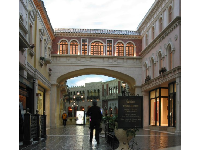 Shopping area at the Venetian.