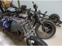 Motorcycles used by smugglers.