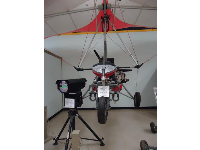 Motorized hang glider, and infrared camera.