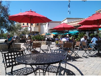 One of the loveliest things you can do in Goleta- sit outside at Camino Real Marketplace and enjoy the cheerful view!