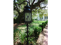 Beautiful lantern at the entrance path.