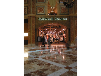 The marble floor, inside Caesar's Forum Shops.