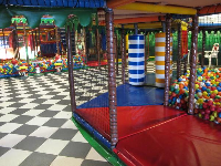 Ball pits in the indoor playground.