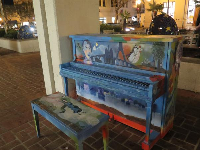 Piano set up on the street, during a festival! So much fun!