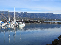 The mountains are just amazing as seen from the harbor.