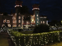 The Lightner museum is amazing at Christmastime.
