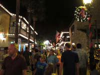 St. George Street gets uncomfortably crowded at Christmastime.