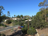 Looking inland from the bridge over Loma Alta Drive.