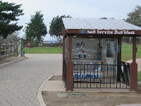 Dog wash station.