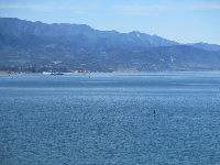 The amazing mountains, the view from the eastern end of Shoreline Park.