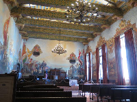The old courtroom, where weddings are now held.