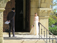 A wedding at the courthouse.