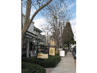 Shops and wine-tasting rooms in Los Olivos.