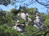 Granite rock face.