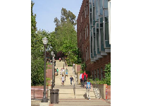 Tall staircase on the southern end of the campus.
