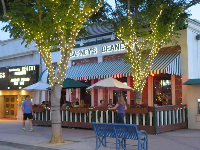 Barney's Beanery, where you can sit outside and enjoy the evening.