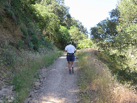 A brave runner on right fork called Old Romero Road.
