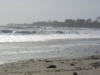 Wild surf on a January day at Goleta Beach.