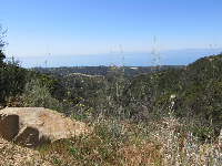 View of the ocean from the Old Romero Road option.