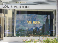 Van Gogh window display at the Louis Vuitton store.