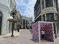 The selfie box on Rodeo Drive.