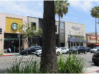 Nice view of the yellow Starbucks from Sharky's on Beverly Drive.