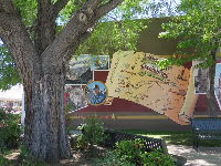 Mural in the town.