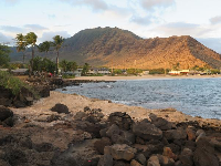View of Mauna Lahilahi Beach, from other side of headland.