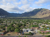 Makaha town and amazing mountains.