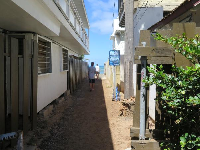 The beach access path to Tonggs.
