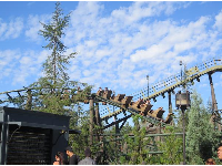 Flight of the Hippogriff rollercoaster in Harry Potter land.