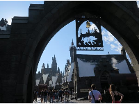 The entrance to Harry Potter land.